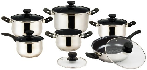 Vinaroz 12-Piece Vieste Stainless Steel Cookware Set