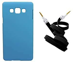 Toppings Hard Case Cover With Aux Cable For Samsung Galaxy A8 - Skyblue