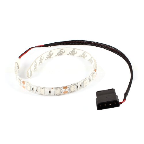 uxcell Red 18 5050 LED Light Flexible Lamp Strip DC 12V for PC Computer Case