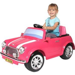 NEW Mini Cooper Ride-on Toy Car Vehicle Child Kids Pink
