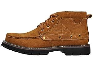 Serene Mens Retro Dunk High Lace Up Oxfords Shoes(10.5 D(M)US, Tan)