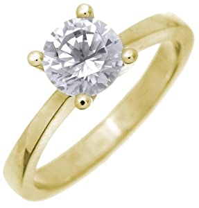 Glamorous 18 ct Gold Ladies Solitaire Engagement Diamond Ring Brilliant Cut 1.35 Carat DEF-SI2 Size J