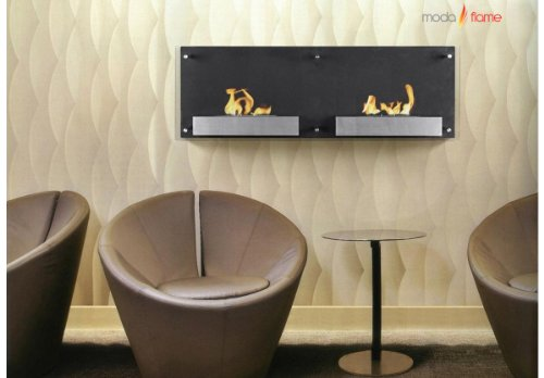 Moda Flame Faro Wall Mounted Bio Ethanol Ventless Fireplace