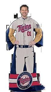 MLB Minnesota Twins Uniform Huddler Blanket With Sleeves by Northwest