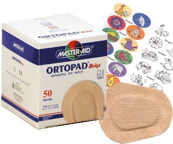 Ortopad Beige Eye Patches - Junior Size (50 Per Box)