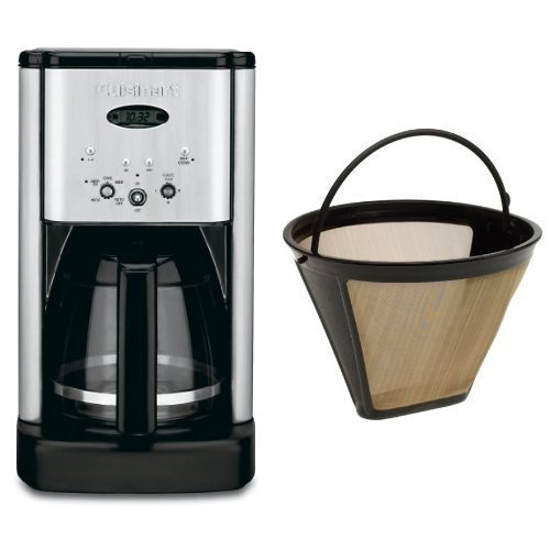 Cuisinart Coffee Maker Dual Cup : Cuisinart DCC-1200 Brew Central 12-Cup Programmable Coffeemaker, Brushed Chrome, and Filter ...