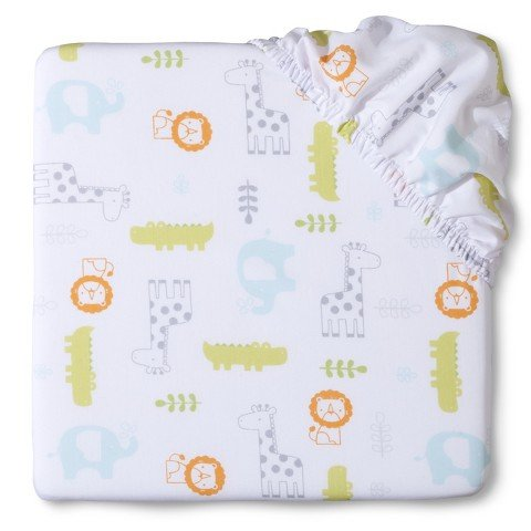 Circo Snoozin Safari Fitted Crib Sheet