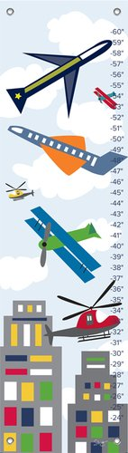 "Oopsy Daisy Growth Chart, Air Transportation, 12"" x 42"""