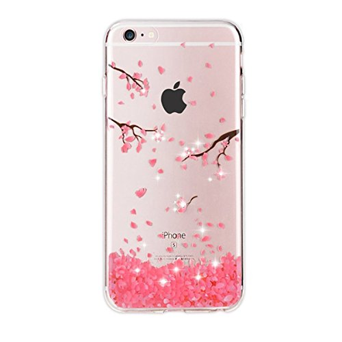 Qissy iPhone5s Case, iPhone5 Case HD Cats flower love butterfly girl Clear Design Transparent TPU Cover for iPhone SE/5/5S (8) (Iphone5 Case Crystal compare prices)