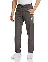 Lotto Men's Synthetic Track Pants (8903264311108_F1510402_X-Large_Blade and Fluo Yellow)