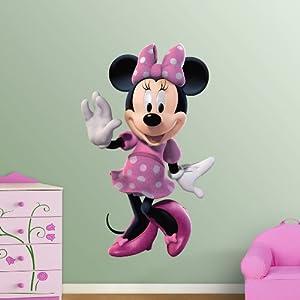 Disney minnie mouse poster wandsticker wandtattoo xxl 129 cm x 81 cm k che - Wandtattoo minnie maus ...