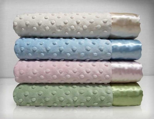 Similar product: My Blankee Dot Velour Stroller Blanket
