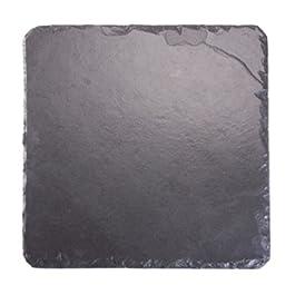 Platos individuales Slate 30 x 30 cm bandeja cuadrada/tabla de cortar queso, negro