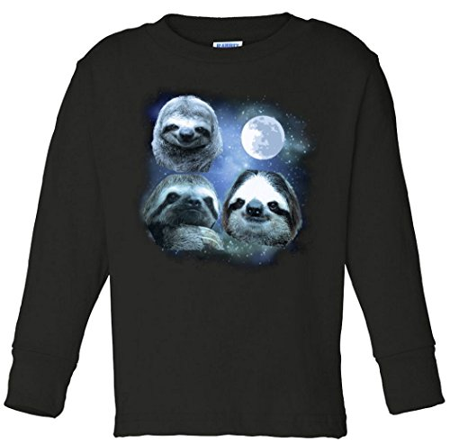 Toddler Long Sleeve: Three Sloths In Space Shirt TLT8789545