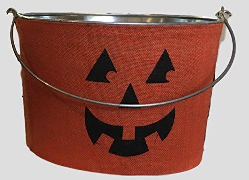 Halloween Decorative Bucket (Pumpkin) (Mud Pie Bucket compare prices)