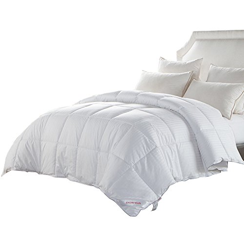 CYBER MONDAY ! LAST CHANCE! Luxurious King Duvet Insert White Goose Down Comforter Cotton Cover -Hypoallergenic,Box Stitched,Protects Against Dust Mites and Allergens(King) (Extra Large King Size Duvet Cover compare prices)