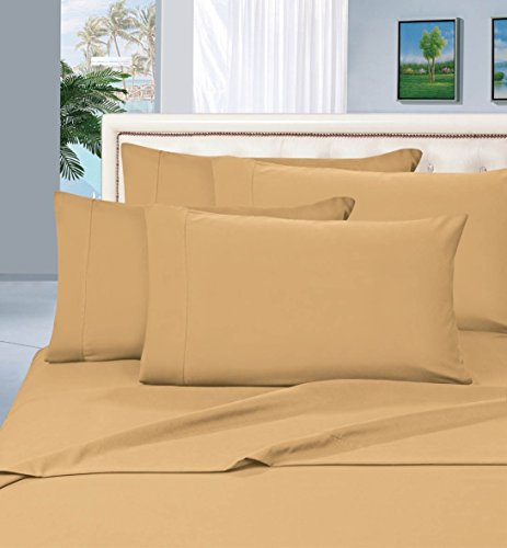#1 Rated Best Seller Luxurious Bed Sheets Set on Amazon! Elegant Comfort® 1500 Thread Count Wrinkle,Fade and Stain Resistant 4-Piece Bed Sheet set, Deep Pocket, HypoAllergenic - Queen Gold (Thick Cotton Sheets compare prices)
