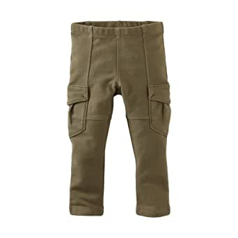 Tea Collection Baby Girls' Skinny French Terry Cargo Pant, 376 Botanical, Large