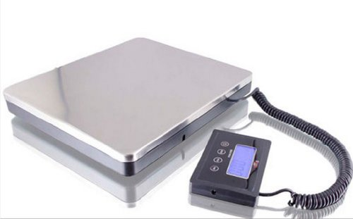 Image of 360 lbs or 160 kg, 11 x 10 x 1.8 inch Digital Scale, Battery: 2 x AA batteries; AC adaptor included, Max. Resolution: 0.2lb or 0.1kg (B007SCVTTO)