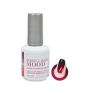 LECHAT Perfect Match Mood Gel Polish, Crimson Nightfall, 0.500 Ounce