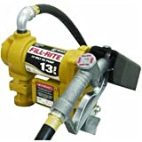 Fill-Rite SD1202 Fuel Transfer Pump, Telescoping Suction Pipe, 10 Delivery Hose, Manual Release Nozzle - 12 Volt, 13 GPM