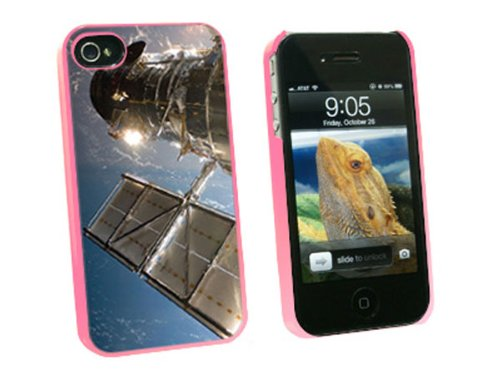 Graphics And More Hubble Telescope - Astronomy Space - Snap On Hard Protective Case For Apple Iphone 4 4S - Pink - Carrying Case - Non-Retail Packaging - Pink