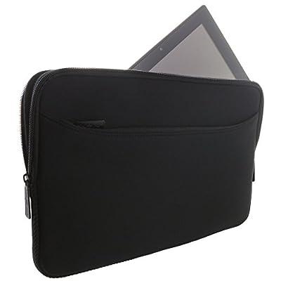 XiRRiX Premium Notebooktasche Neopren Schutzhülle Universal mit zusätzlichem Fach - Schwarz