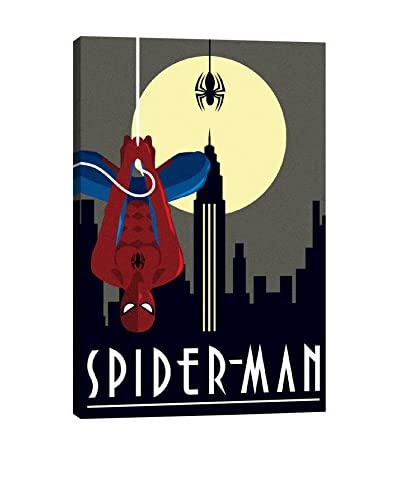 Spider-Man Minimalistic Gallery-Wrapped Canvas Print