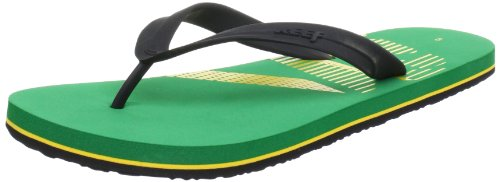 Reef PULSE TQT GREEN/GREEN/YEL Flip-Flops Mens multi-coloured Mehrfarbig (Grey/Brown (GREEN/GREEN/YEL)) Size: 7.5 (41.5 EU)