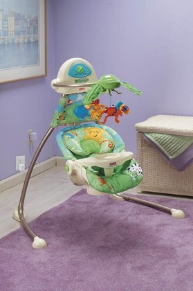 Fisher-Price Rainforest Open-Top Cradle Swing