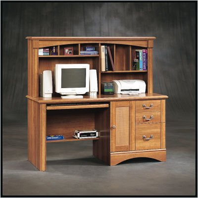 Buy Low Price Comfortable Sauder 188134 Willow Falls Computer Desk With Hutch (B003K0KJ3A)