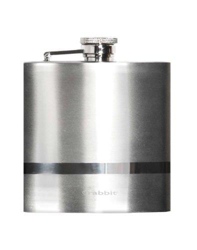 Metrokane Rabbit Polished Pocket Flask, 6 Ounce, Stainless Steel