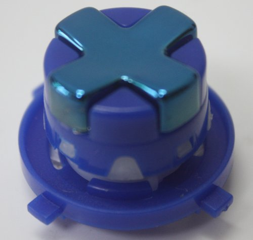 Chrome Blue W/ Dark Blue Transforming D-Pad For Xbox 360 Controller (Rotating Dpad)