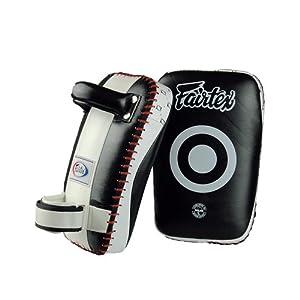 Fairtex Small Curved Kick Pads - Black/White