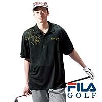 (フィラゴルフ) FILA GOLF メンズ カモメッシュポロシャツ(半袖) 3L 2 ブラック