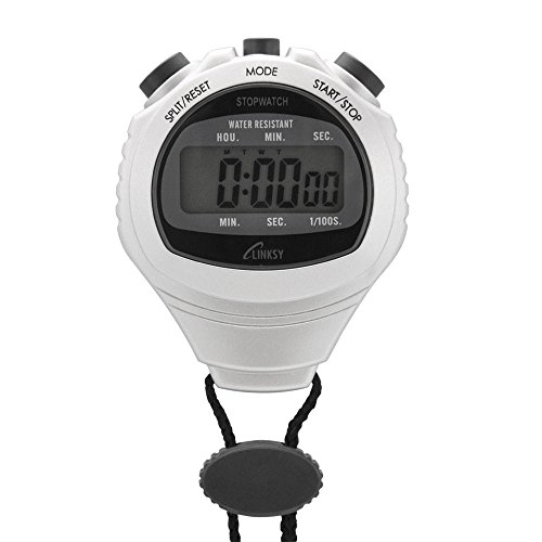 Wet LINKSY (Linksys) safe-proof drop mechanism split time / Diar time meter with 1 / 100 second stopwatch silver LS001S