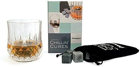 Chillin' Cubes - America's Finest Bourbon & Whiskey Stones (Set of 16 Stones) in Gift Set with Velvet Bag