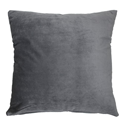 zxke-cushion-covers-solid-color-velvet-home-decorative-throw-pillow-cases-square-18-x-18-gray