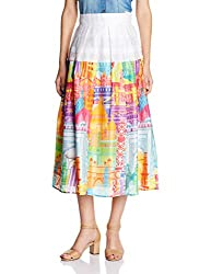 Quirk Box Women's Pleated Skirt (QRW4MCSK - XS_Multi-Color)