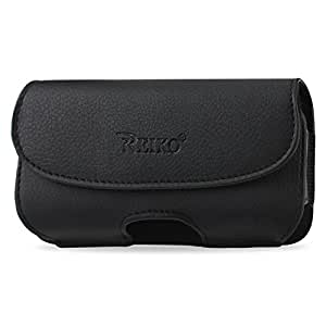 "Reiko Horizontal Pouch Carrying Case for iPhone 6 4.7"" - Retail Packaging - Black"