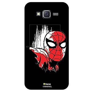 Hamee Marvel Samsung Galaxy J5 Case Cover Spider Man Face Design Black