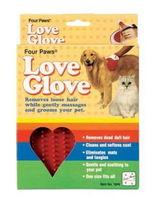 Brand New FOUR PAWS PRODUCTS - LOVE GLOVE GROOMING GLOVE (1 CT)