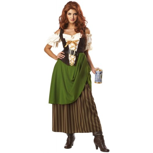 Tavern Maiden Costume - Small - Dress Size 6-8