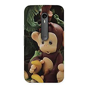 Cute Toy Monkey Multicolor Back Case Cover for Moto G Turbo