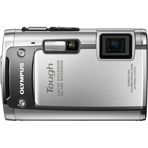 Olympus TG-610 14 MP Digital Camera with 3.6x Optical Zoom, Waterproof, Shockproof, Freezer Proof, 3D, Wi-Fi, 5x Optical zoom (Silver)