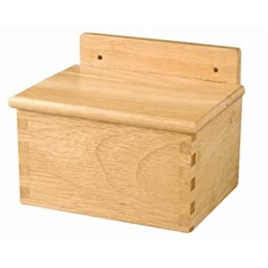 Wooden Salt Box - 12.6(W) x 16.3(L) x 9.4(H)cm.
