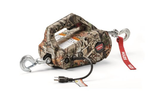 warn 885020 camouflage ac powered corded pullzall portable lifting