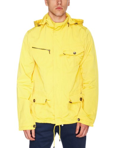 DKNY Cinched Pocket Hooded Men's Jacket Chrome Yellow Medium