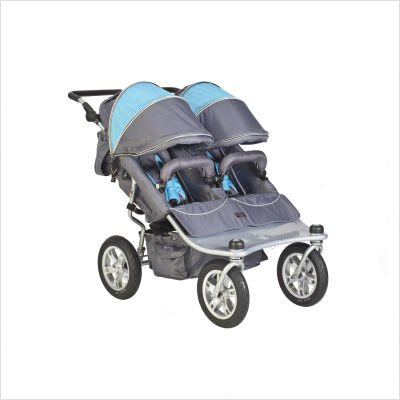 Tri Mode EX Twin Stroller Set in Arctic Color: Arctic