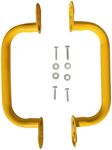 "Read About Jungle Gym Kingdom 15"" Steel Safety Handles Pair - yellow"